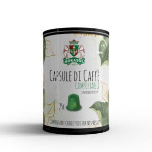 Barattolo 25 capsule Nespresso compostabili