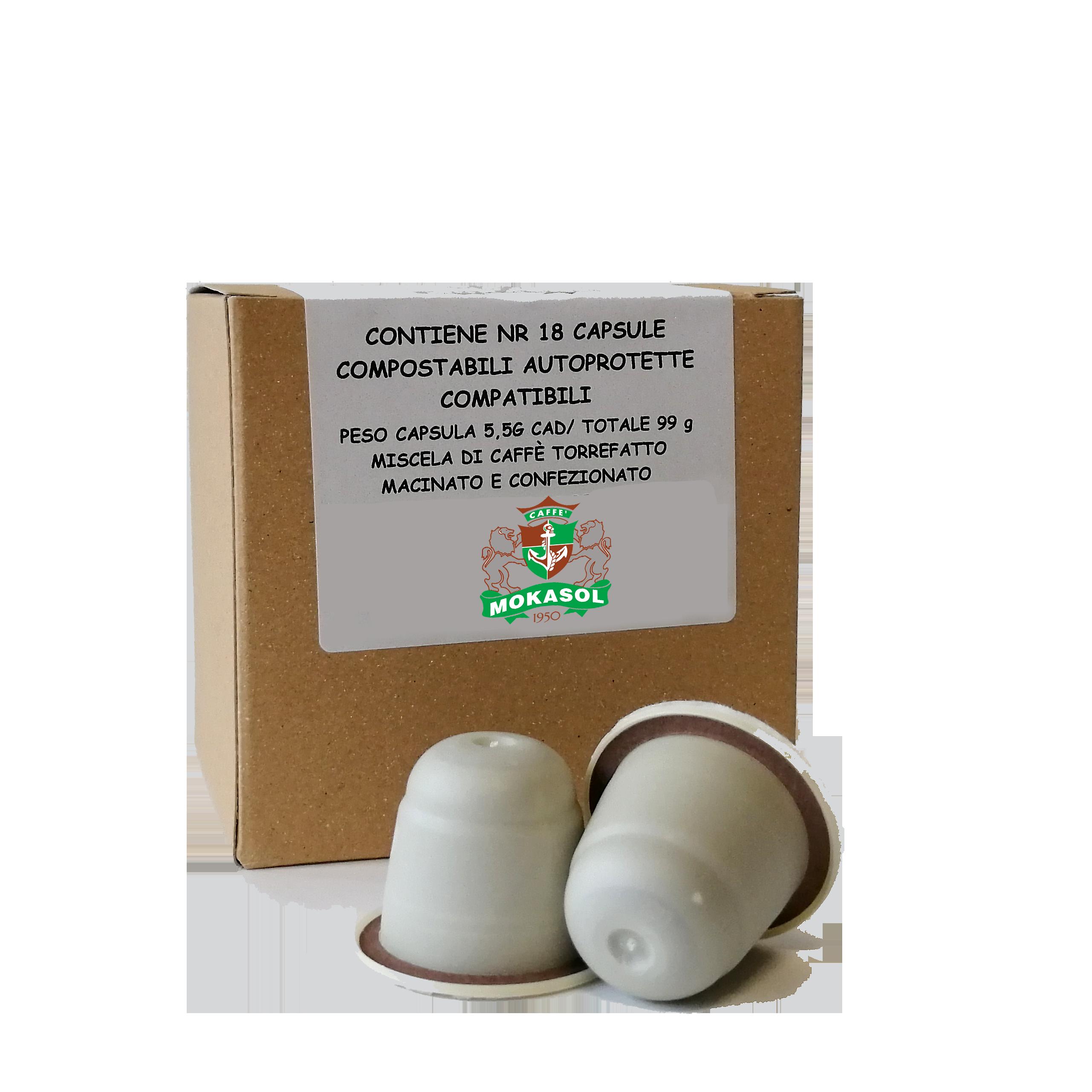 capsule mokasol compostabili